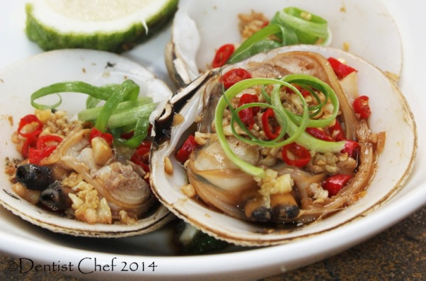 recipe chinese style steamed clams garlic ginger chilli soy sauce