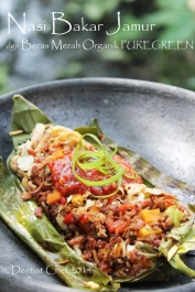 resep nasi bakar beras merah puregreen