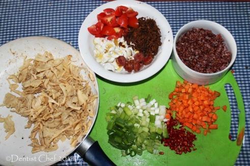 resep nasi bakar isi jamur beras merah puregreen