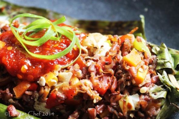resep nasi merah bakar jamur