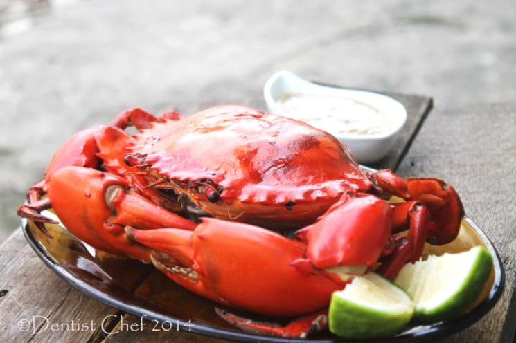 roasted mud crab baked garlic butter recipe