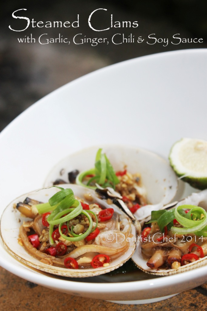 STEAMED CLAMS GARLIC GINGER RECIPE CLAM CHILI CHINESE SOY SAUCE