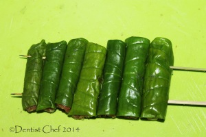 step by step grilled chicken betel leaves wrap recipe
