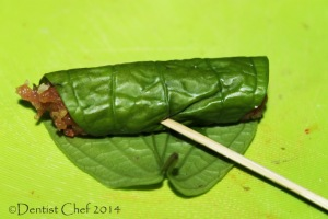 vietmanese grilled chicken betel leaves wrap recipe