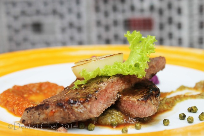 wagyu beef steak recipe spicy roasted pepper sauce