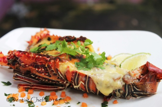 Homemade Cheese Baked Lobster Thermidor
