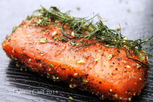 homamade gravlax recipe step by step cured salmon