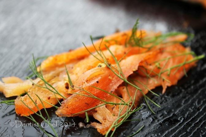 homamade salmon gravlax recipe