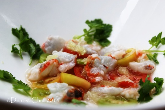 lobster ceviche recipe raw lobster meat lemon juice salad