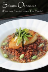 ochazuke recipe fish over rice with green tea broth matcha konbu dashi bonito stock