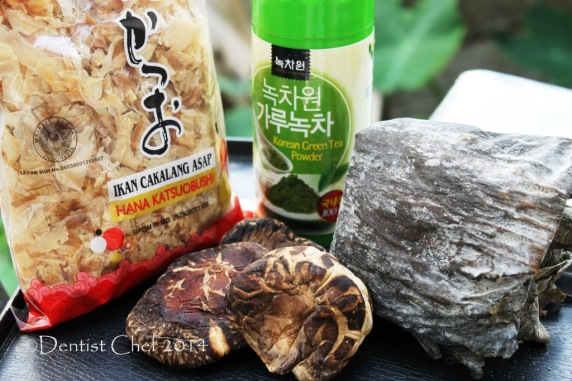 ochazuke recipe green tea broth dashi katsuobushi konbu shiitake mushrooms