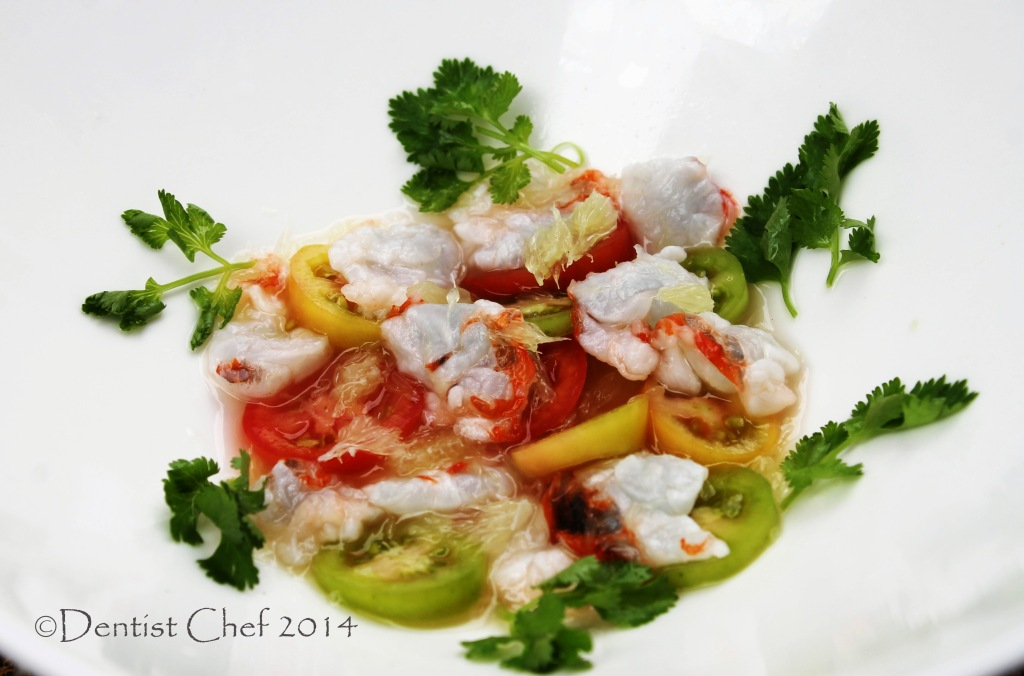 raw lobster ceviche recipe salad lobster meat tomato