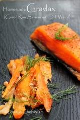 salmon gravlax homemade recipe cured salmon dill weed
