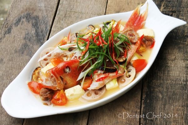 steamed fish recipe teochew chinese style salted plum tomato