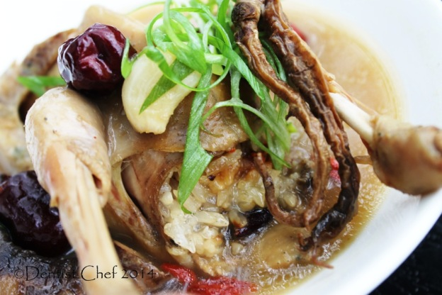 Sticky rice stuffed chicken recipe samgyetang korean ginseng chicken herbal soup
