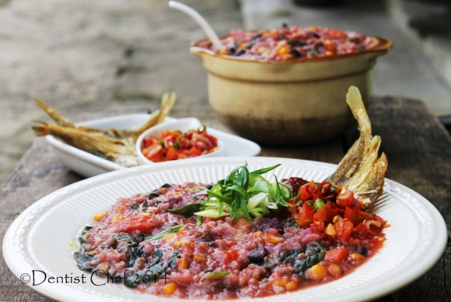 porridge vegetable congee indonesian recipe tinutuan bubur manado