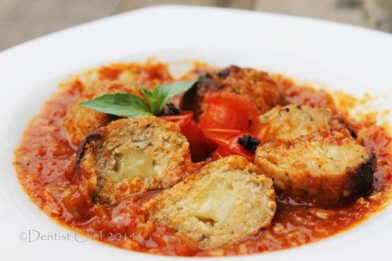 cheese stuffed salmon meatball recipe