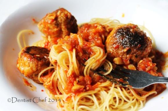 salmon meatball pasta spaghetti tomato salmon recipe