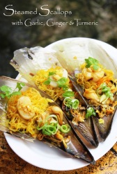 steamed scallops garlic ginger recipe turmeric steamed clams rice vermicelli