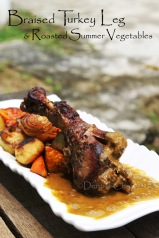 wine braised turkey leg recipe roasted summer vegetables