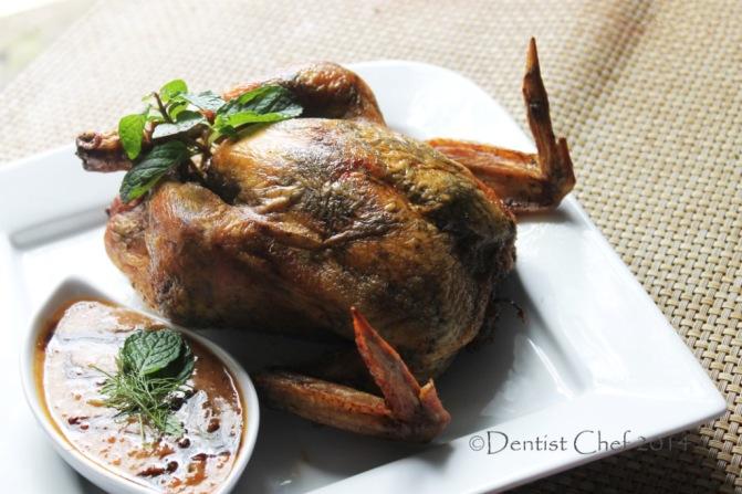 crispy skin roasted chicken recipe herbs butter stuffed chicken peanut ...