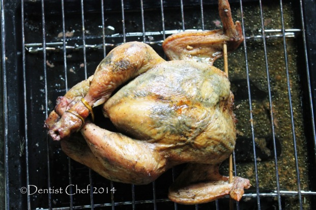 recipe how to roasted chicken herbs butter mint cilantro dill crispy skin roasted chicken moist meat