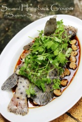 steamed mouse grouper humpback chinese style soy sauce mushroom ginger scallion garlic
