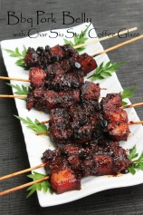barbeque pork belly recipe honey coffee glazed roasted pork belly chinese style char siu pork belly