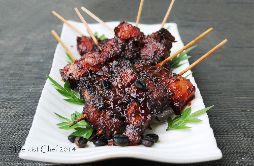 grilled pork belly char siu honey glazed pork skewer chinese recipe ...