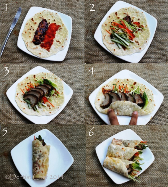 recipe chinese pancake wrapped roasted peking duck hoisin sauce plum sauce bebek peking bungkus roti dentist chef