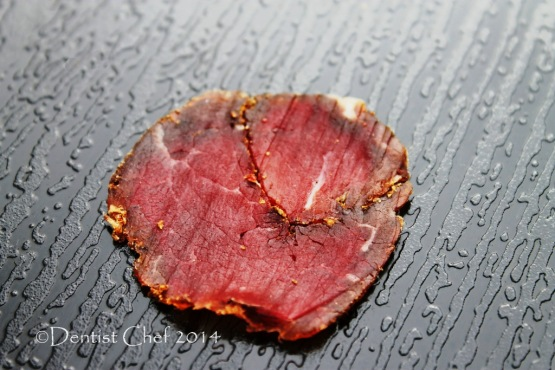 thinly slice homemade beef bresaola dry cure beef meat at home recipe