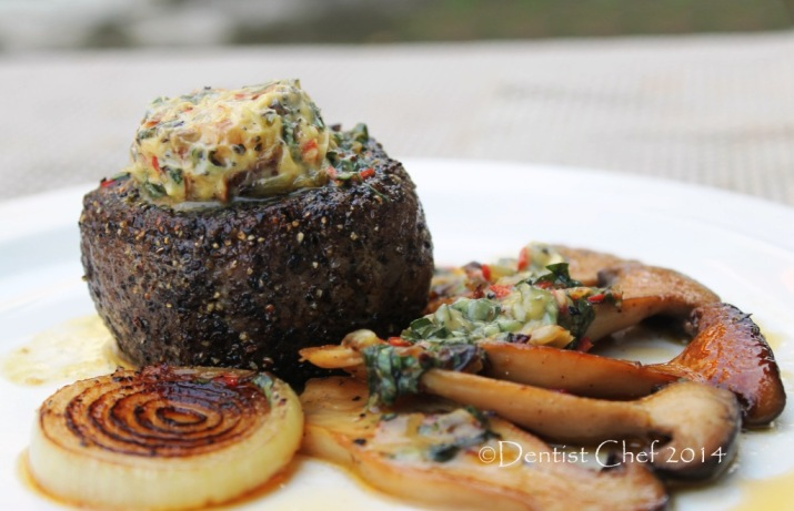 gorgonzola blue cheese butter tenderloin steak recipe dry aged beef tenderloin with chili basil butter