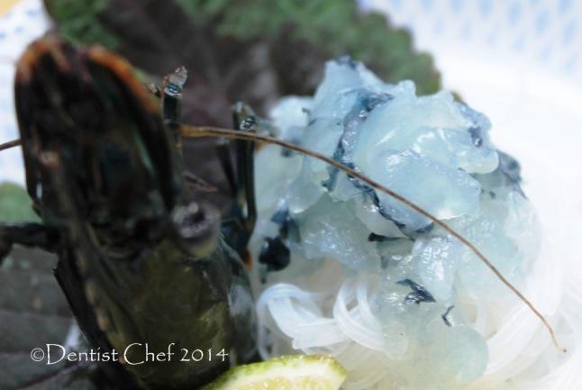 raw shrimp sashimi recipe prawn sashimi with soy sauce ginger wasabi rice vermicelly japanese food