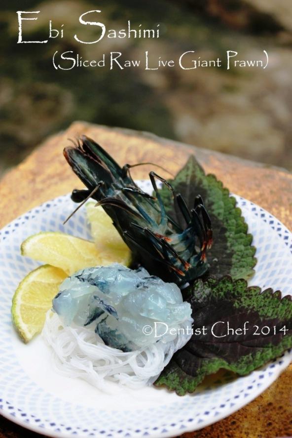 recipe raw prawn sashimi live shrimp japanese ebi sashimi