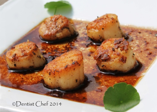 seared scallops with balsamic vinegar reduction mushrooms soy sauce recipe