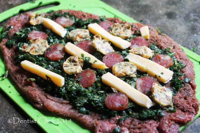 Spinach Stuffed Beef tenderloin fillet filled with cheese gorgonzola butter chorizo sausage