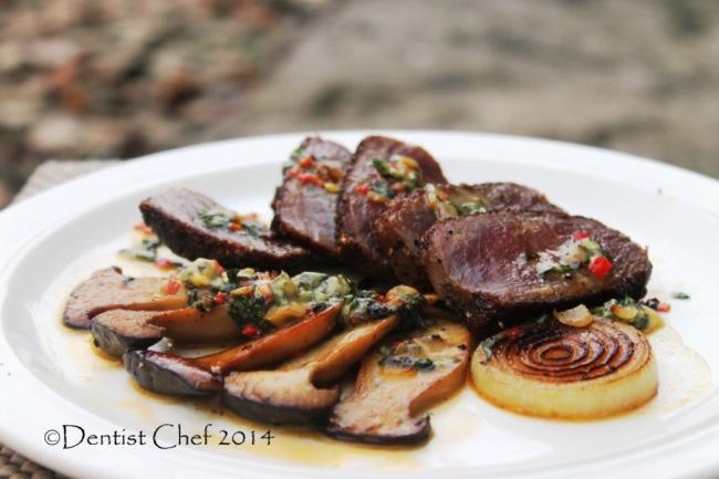 steak with blue cheese butter recipe tenderloin steak chilli basil butter pan fried mushrooms