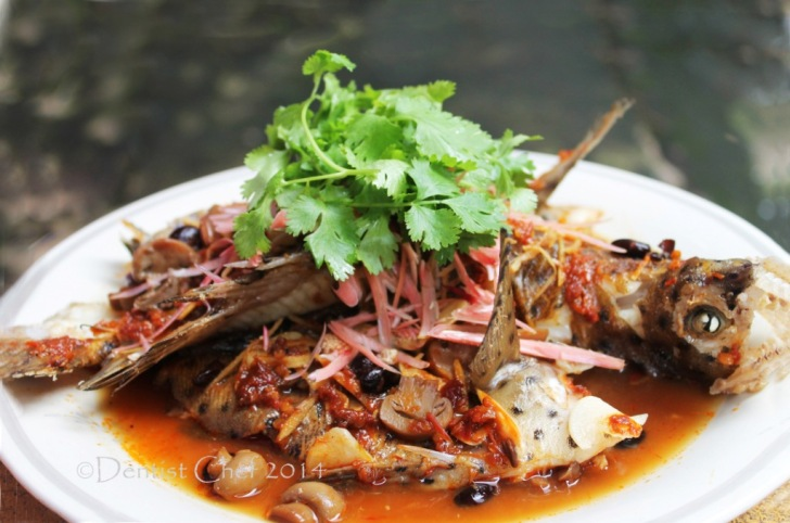 thai steamed fish sweet and sour fish steamed fish in sweet sour image ...