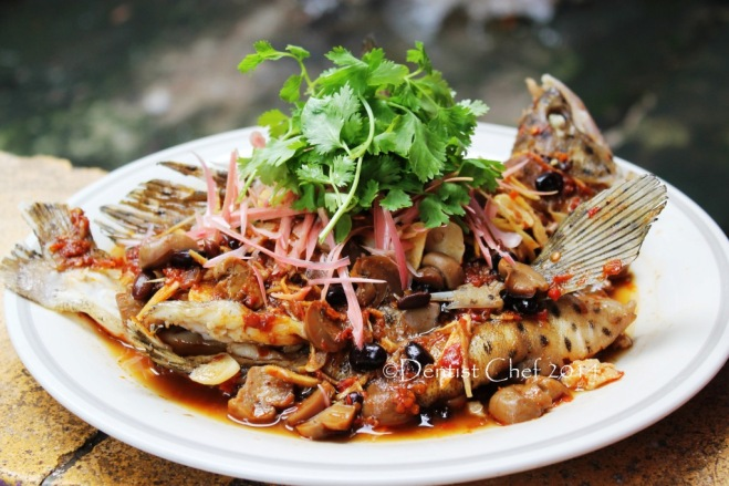 steamed fish thai style recipe steamed mouse grouper chili tamarind sambal spicy fish torch flower ginger resep ikan kerapu kukus
