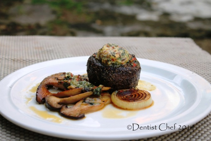 tenderloin steak blue cheese butter recipe spicy chili basil butter