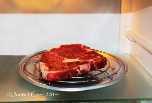 how to dry aging beef ribeye steak in refrigerator perfect steak coffee crust