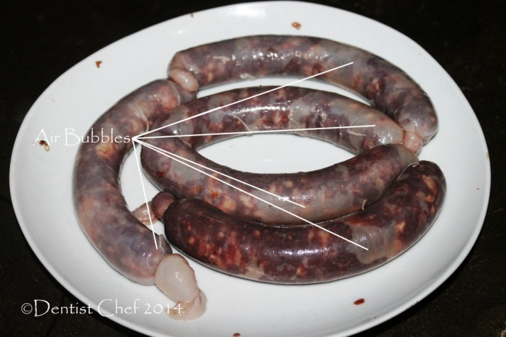 how to make bratwurst sausage remove air prick