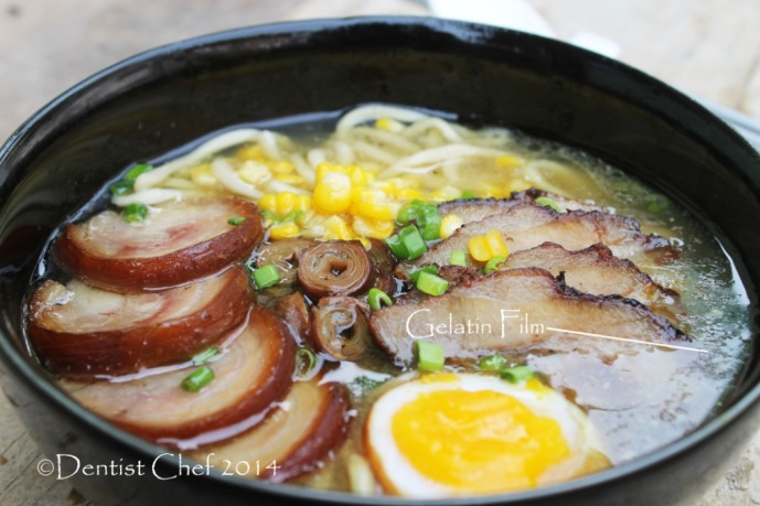 how to make thick tonkotsu ramen broth recipe japanese pork bone noodle with chashu pork belly gelatin soup