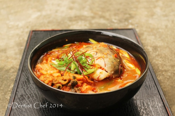 recipe korean maeuntang spicy salmon fish head soup kimchi vegetables chili strand shilgochu soup
