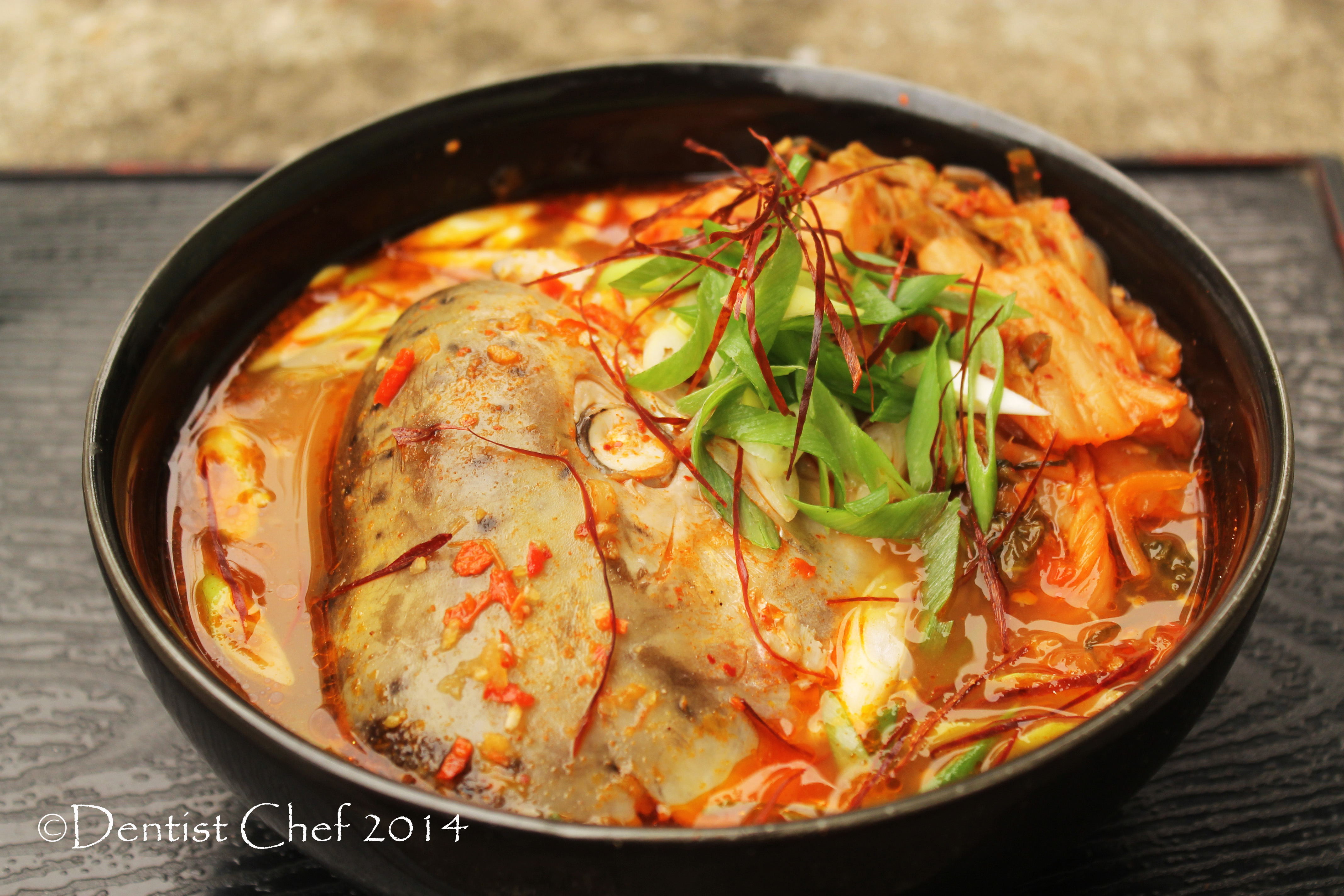 How to make korean maeuntang soup recipe dentist chef for Spicy fish soup