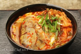 Recipe Maeuntang Korean Salmon Head with Kimchi Soup in Spicy Sour Chili Broth