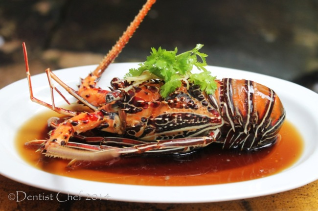 recipe lobster steamed with garlic ginger soy sauce chinese style cantonese bamboo lobster