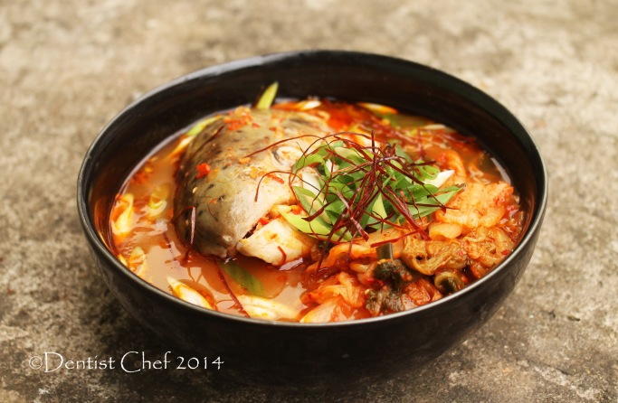 recipe maeuntang spicy fish soup vegetables salmon head kimchi soup korean chili strand shilgochu
