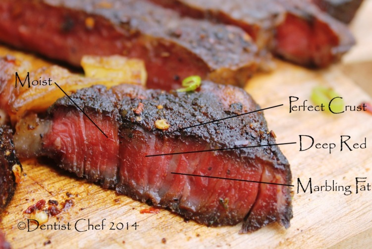 recipe perfect ribeye steak coffee chilli rub crust savoury chocolate sauce