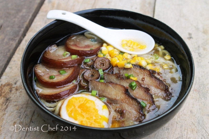 Recipe Tonkotsu Ramen DIY Homemade pork bone soup japanese pork ramen noodle